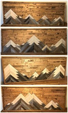Decorate your house walls with the elegance of pallets. This alluring wall decor art with pallets is showing the awesome designing work. The beauty of this pallet craft will add attraction in y Art Mural Palette, Palette Diy, Recycled Pallets, Wood Pallets, Diy With Pallets, Pallet Benches, Pallet Patio, Pallet Bar, 1001 Pallets