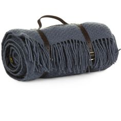 Tweedmill Pure New Wool Picnic Blanket - Blueberry ($158) ❤ liked on Polyvore
