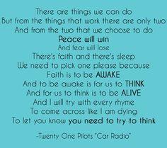 Twenty One Pilots - Car Radio Lyrics
