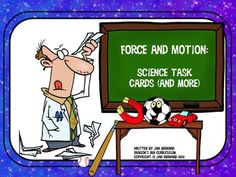 Learning about force and motion has just become more fun with this set of task cards, activities, and even a force and motion game! $