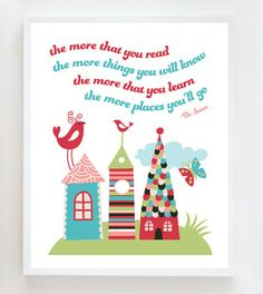 16x20 Dr Suess Quote Wall Art Print by OwlUNeedIsLove on Etsy, $22.95.
