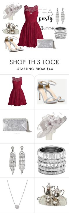 """Tea Party"" by jamink on Polyvore featuring interior, interiors, interior design, home, home decor, interior decorating, BCBGMAXAZRIA, John Lewis, Kenneth Jay Lane and Henri Bendel"