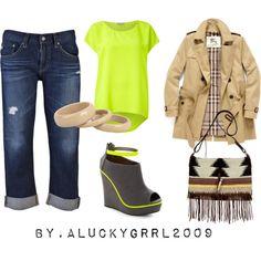 Neon Tribal Boyfriend Jeans