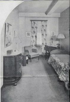 """Sylvia Plath's room in the former Barbizon Hotel for Women — which she renamed the """"Amazon"""" for its appearance in The Bell Jar."""