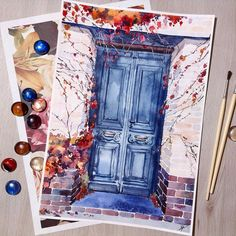 67 Ideas book art painting watercolors ideas for 2019 Watercolor Drawing, Painting & Drawing, Watercolor Paintings, Watercolors, Painting Inspiration, Art Inspo, Drawing Sketches, Art Drawings, Guache