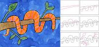 Art Projects for Kids: Wrap Around Snake