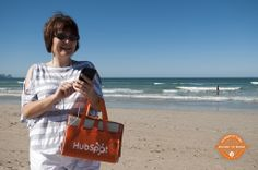 Bettina HubSpots in Cape Town, South Africa. We wouldn't mind #hubspotting from  such a beautiful beach!