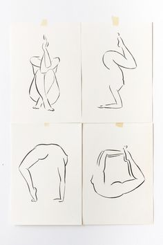 Meditation and Asana Yoga Poses are part of the Yoga series by Andrea Kollar. All drawings are ink on paper. You can request one of the original artworks by sending an email. #yoga #lineart #minimalart #andreakollar