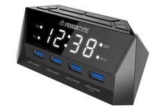 Beare Alarm Clock Charging Station – w/ QUAD USB Port for iPhone/iPad/iPod/Android Phone and Tablets -- Check out this great product. (This is an affiliate link) Best Alarm, Gadgets Online, Digital Alarm Clock, Alarm Clocks, Security Camera, Quad, Android, Iphone, Link