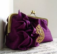Purple clutch, so unique