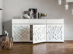 Paris Modern Baroque Buffet in Matte White Color by Tonin Casa Side Board, Luxury Furniture, Cool Furniture, Furniture Design, My Home Design, House Design, Design Studio, Buffet Design, Modern Baroque