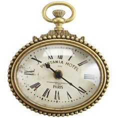 Mini Gold Clock-possibility for my room or our formal living room