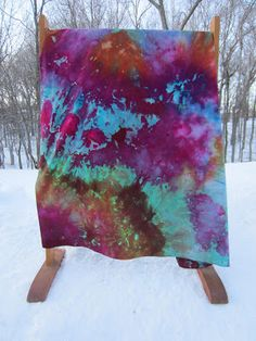 "Carol R. Eaton Designs: 30"" of Fresh Snow = A Snow Dyeing Opportunity! Almost makes me want winter to come.... almost."