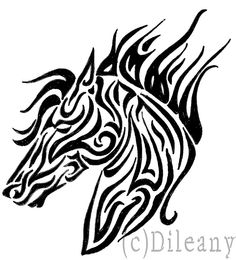 Horse tribal by Dileany on deviantART #tattoo #equine