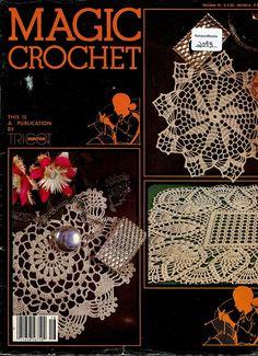 Crochet Magazine - MAGIC CROCHET Vintage Magazine Pattern Book - Issue Number 16 - Thread Crochet Patterns - 1980's