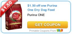 Tri Cities On A Dime: SAVE $1.50 ON PURINA ONE DRY DOG FOOD