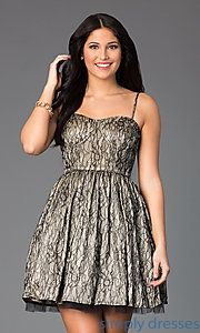 Buy Short Lace Spaghetti Strap Dress at SimplyDresses