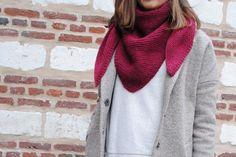 Trendy châle bordeaux, manteau lurex La Redoute