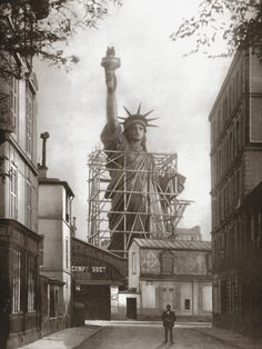 Statue of Liberty in Paris, c.1886. The statue was full-assembled in France before being dismantled and shipped to the US