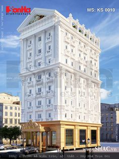 Thiết kế khách sạn Classic House Design, Classic Building, Apartment Projects, New City, Victorian Homes, Exterior Design, Facade, Multi Story Building, Mansions