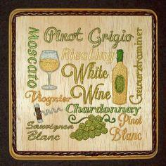 Wine Decor, Wood Wine Decor, Wine Bar Decor, Embroidered Wine Decor, Wine Bottle, Bar Decor, Winery Decor, Wine Lover, Balsa Wood Embroidery by WitchezStitchez on Etsy