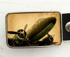 Vintage Aircraft Belt Buckle Airplane Belt Buckle by bmused