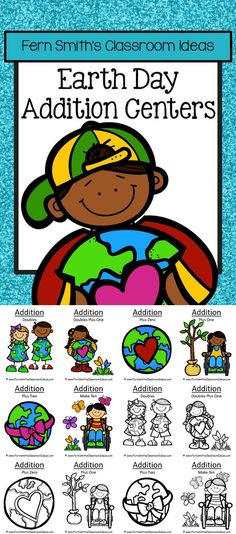 Earth Day Addition Centers, Printable Seatwork Centers and Interactive Notebook Activities with six different addition strategies which can be mixed and matched for endless combinations. PERFECT for a Family Math Night! Six Different Strategies 1. Addition Doubles 2. Addition Doubles Plus One 3. Addition Make Ten 4. Addition Plus Zero 5. Addition Plus One 6. Addition Plus Two #TPT $Paid