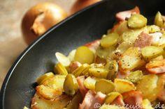 Unsere Brotzeitpfanne – Kartoffeln, Wurst und Käse