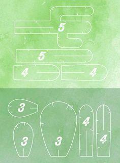 5 petits cactus à télécharger, imprimer et assembler soi-même, pour ceux qui n'ont pas la main verte.
