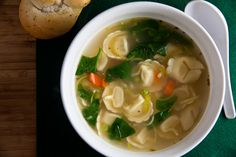 Lemon Chicken Soup with Tortellini - Healthy. Delicious.