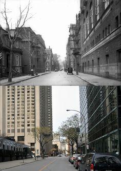 https://flic.kr/p/pZaPiq | Vers 1928-2014 | Une vue de la rue Stanley au sud du blvd. René-Lévesque  L'édifice que l'on aperçoit à droite était une section du Y.W.C.A.  Bien que l'édifice principal de cette institution située sur le boulevard René-Lévesque fut démoli en 1946 afin de faire place à l'hôtel Laurentien, cette section fut préservée.  Elle fut vraisemblablement démolie en 1978 lors de la démolition de l'hôtel.  Source : Archives de la Ville de Montréal, VM94-Z1452-1  © Tous…