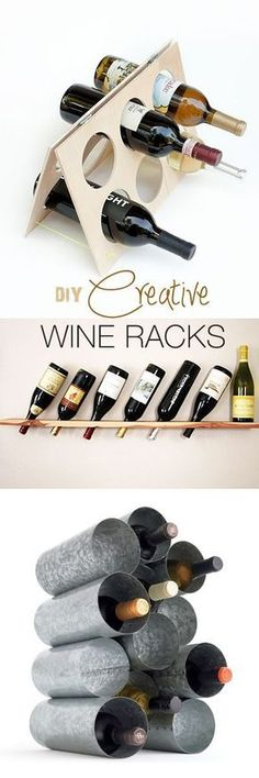 OMG, why did i never think of making my own wine rack? DIY Creative Wine Racks • Ideas & Tutorials! #WineRack
