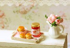 Dollhouse Miniature Food - English Scones Tea Set