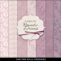 Far Far Hill: New Freebies Background Kit - Romantic Dreams