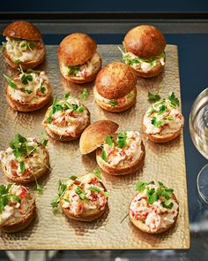 We've given the seventies-style prawn cocktail an update with these crayfish and crab brioche bites. They make an elegant canapé at a dinner party. Prawn Cocktail, Cocktail Party Food, Canapes Recipes, Appetizer Recipes, Canapes Ideas, Wedding Canapes, Party Canapes, Cocktails And Canapes, Christmas Canapes