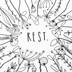 Rest. Day 95 of yearlong sketchbook project. Cassie Loizeaux