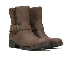 Make a fuss over the Levanzo Bootie from B.O.C.Faux leather upper in a casual ankle boot style with a round toeZipper detail with plaid gusset detailOn-trend stylingSmooth lining, cushioning insoleFlexible PU outsole, 1 inch heel