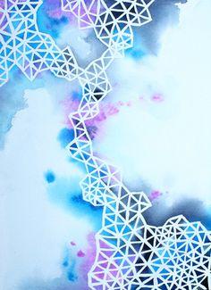 IN BETWEEN original geometric abstract art by BrownBearStudio, $150.00