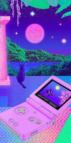 iphone wallpaper purple vaporwave X : Trippy Wallpaper, Neon Wallpaper, Aesthetic Pastel Wallpaper, Aesthetic Wallpapers, Wallpaper Backgrounds, Aesthetic Space, Neon Aesthetic, Aesthetic Anime, Art Vaporwave