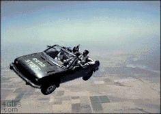 gif LOL wtf car animated gif skydiving flying