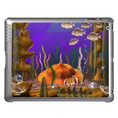 UFO crashes underwater iPad case by valxart