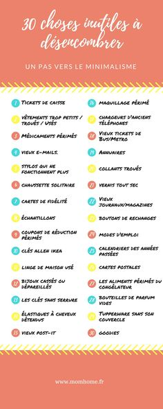 30 choses inutiles à désencombrer - minimalisme Home Organisation, Diy Organization, Cleaning Quotes, Cleaning Hacks, Grand Menage, Tip Top, Todo List, House Cleaning Services, Making Life Easier