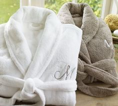 these soft, cozy robes would be a great wedding gift - you also have the option of monogramming to make them completely customized to the couple.