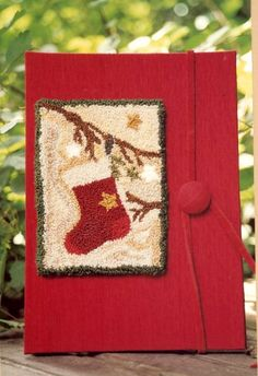 Nice idea to give as a gift. Country Threads :: Punch Needle Embroidery :: Christmas Stocking Punch Needle Embroidery Kit