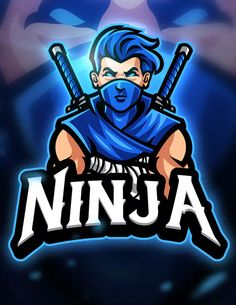 Ninja - Mascot & Esport Logo by aqrstudio on Envato Elements Team Logo Design, Logo Desing, Mascot Design, 2 Logo, Game Logo, Ninja Logo, Mobile Logo, Esports Logo, Gaming Wallpapers