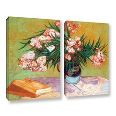 Oleander by Vincent Van Gogh 2 Piece Gallery-Wrapped Canvas Set