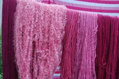 Dyed with cochineal.