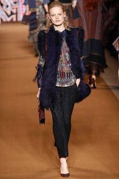 Classic fuzzy hippie embellished Etro love.  Etro Fall 2014 Ready-to-Wear Collection Slideshow on Style.com