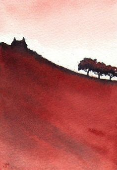 ARTFINDER: Red. by JULIE MORRIS - Almost a silhouette against the evening sky.