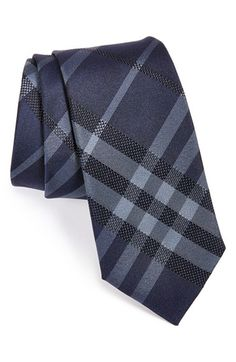 Men's Burberry London 'Rohan' Woven Silk Tie - Blue